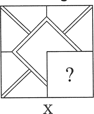 A square having other incomplete squares in it