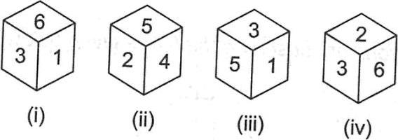 Position of various cubes and visible sides