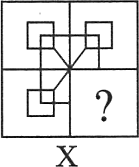 A square containing other shapes logically
