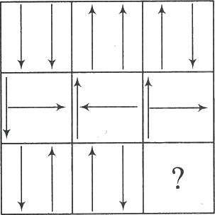 3×3 matrix having arrows in each box