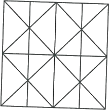 Square having lines and another square