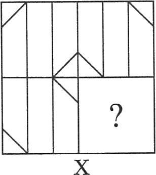 A square having shapes and lines in it