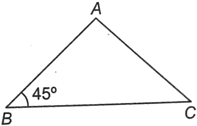 A triangle with given value of an angle
