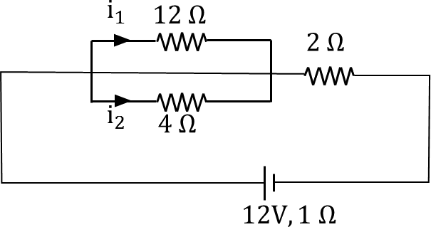 A circuit with three resisters