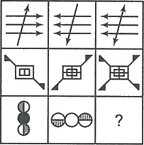 3×3 matrix showing different shapes set logically