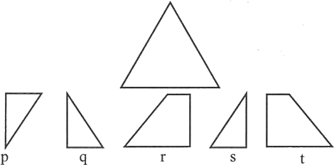 Triangle made by different shapes