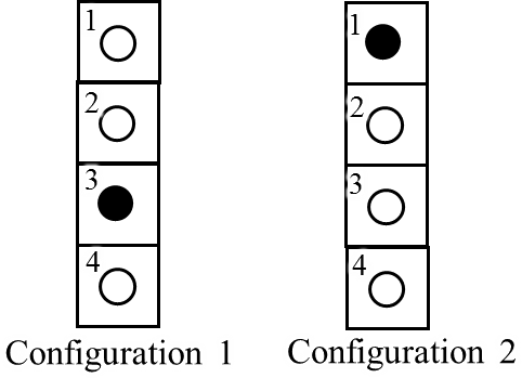 An electrical circuit of set of 4 lights – 2 configurations