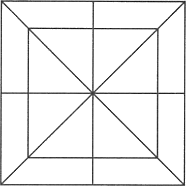 A square having other squares in it