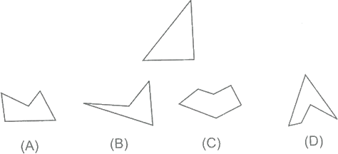 Four different angled geometrical shapes