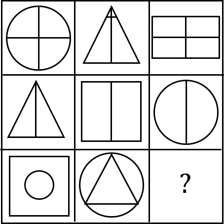 A matrix having geometric shapes in it