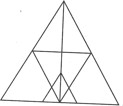 A triangle having other triangles in it