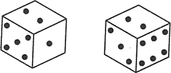 Two positions of one dice