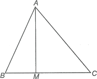 A triangle having a median in it