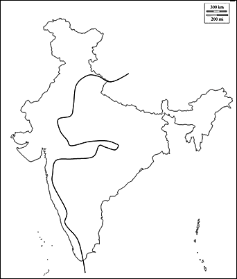 Map of India – What this zig-zag line indicates