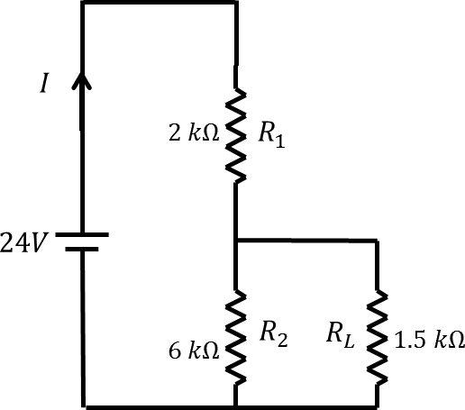 Circuit diagram with R1, R2 and R3 resistor