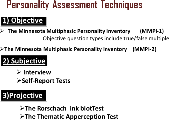Personality assessment technique