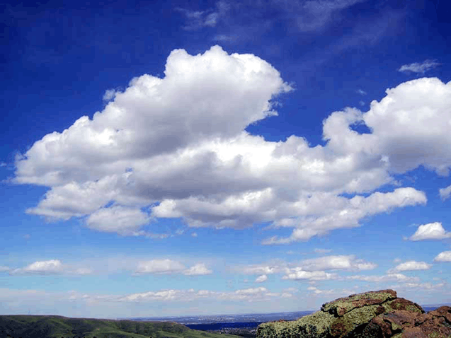 Identify the types of clouds