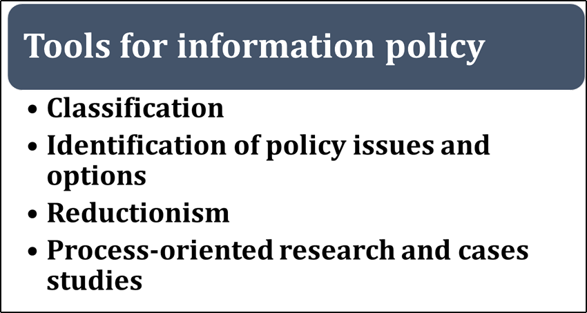 Image of Tools for information policy