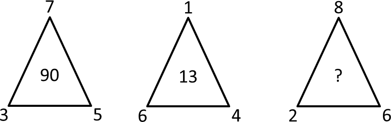 Image of the missing number in the triangle