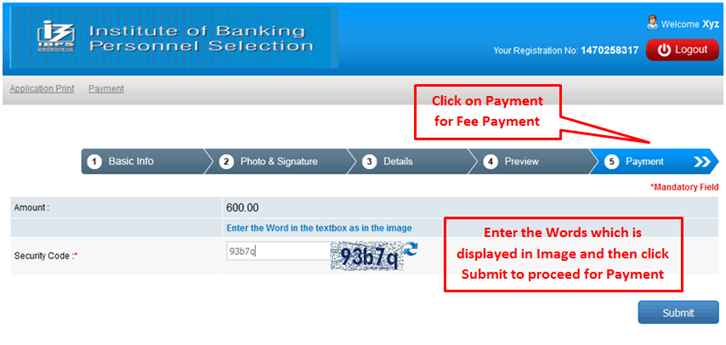 Payment Page - IBPS