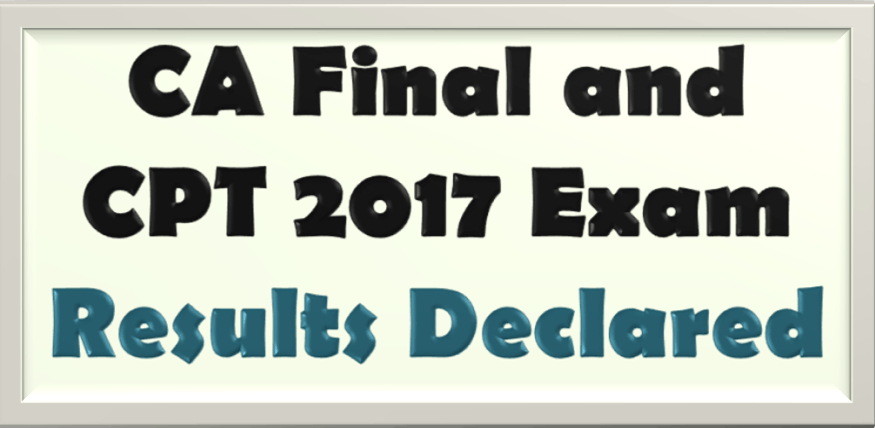 Image of CA final and CPT 2017 Exam results declared by ICAI