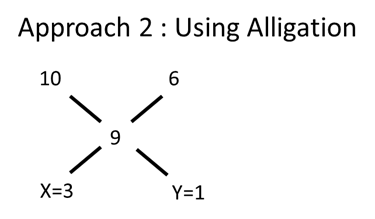 Approach 2 and Using Alligation value