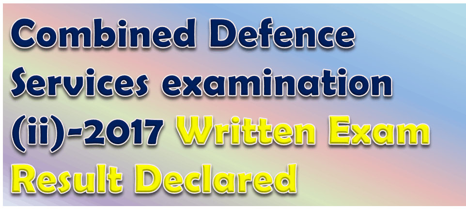 Combined Defence Services examination (ii)-2017 Image