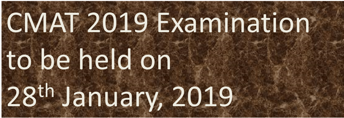 Image of CMAT 2019 Examination to be held on 28<sup>th</sup> January,2019