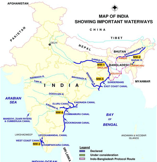 Map of National Waterway 4