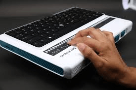 This is image show in India's first Braille laptop