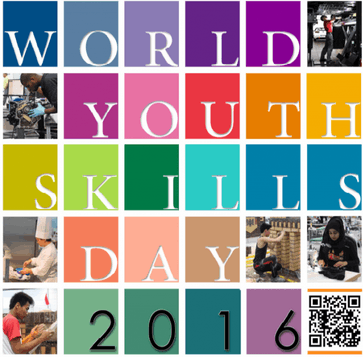 Image shows the World Youth Skills Day 2016