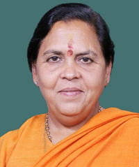 Image of Uma Bharti Indian cabinet minister for water resource