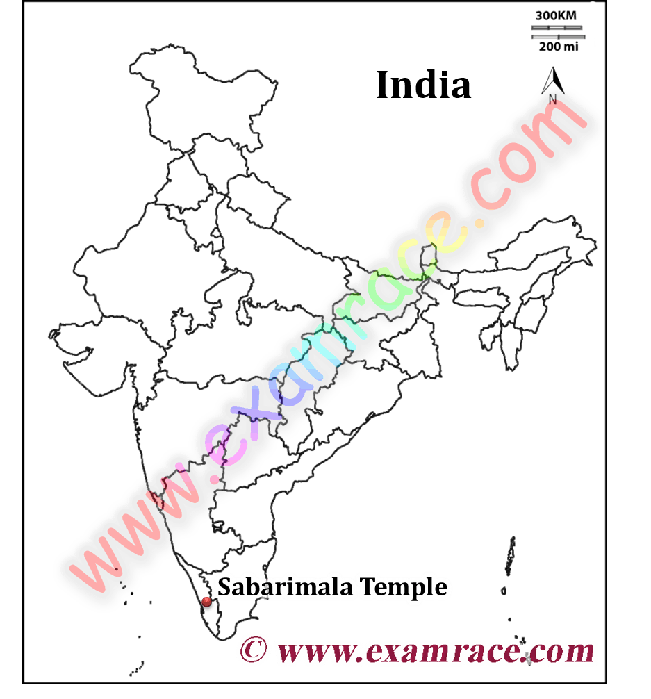 Map of Sabrimala Temple