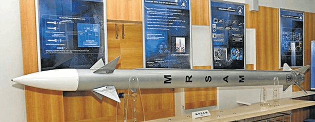 Image shows the model of the MediumRange Surface to-Air Missile