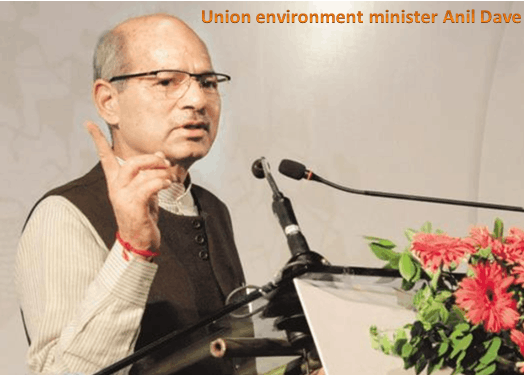 Image of Union enviroment minister Anil Dave