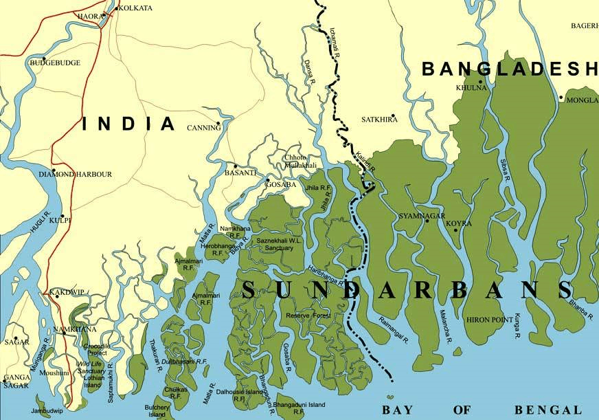 Map of Sundarbans environment