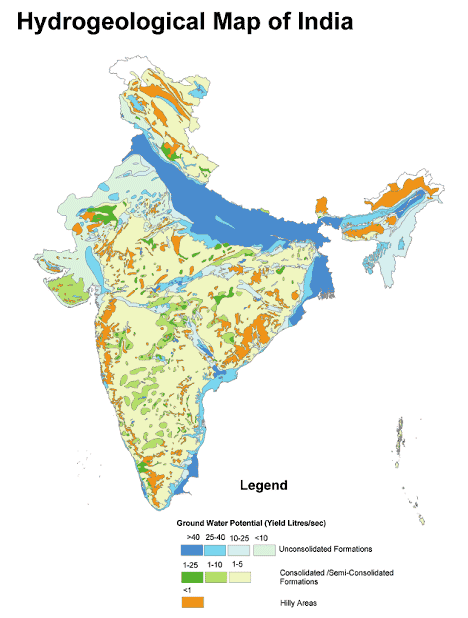 Hydrogeological Map of India