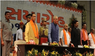 Image shows the Vijay Rupani and others