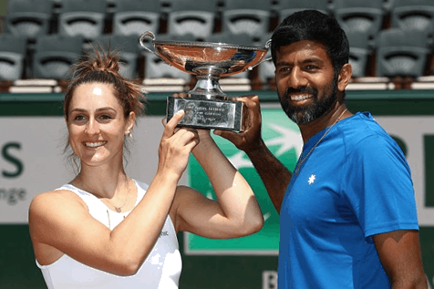 Rohan Bopanna of India and Gabriela Dabrowski of Canada