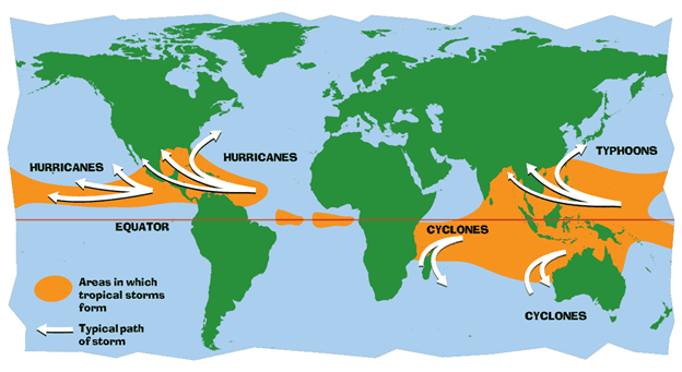 Image of Name of Hurricanes