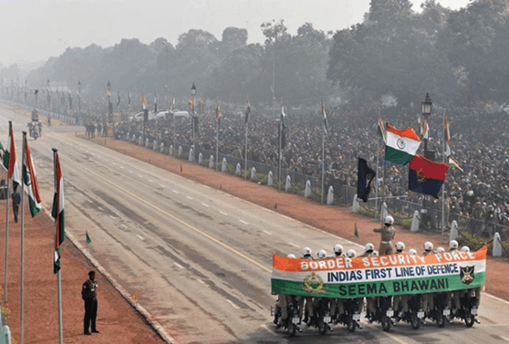 Image of BSF's Women Bikers Make History on Republic Day-2018