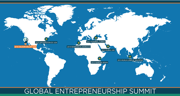 Map of Global Entrepreneurship Summit