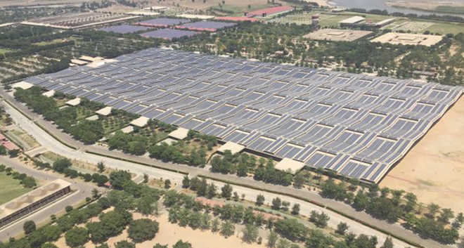 Image of Largest single Rooftop Solar Power Plant