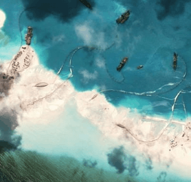 Image shows the South China Sea
