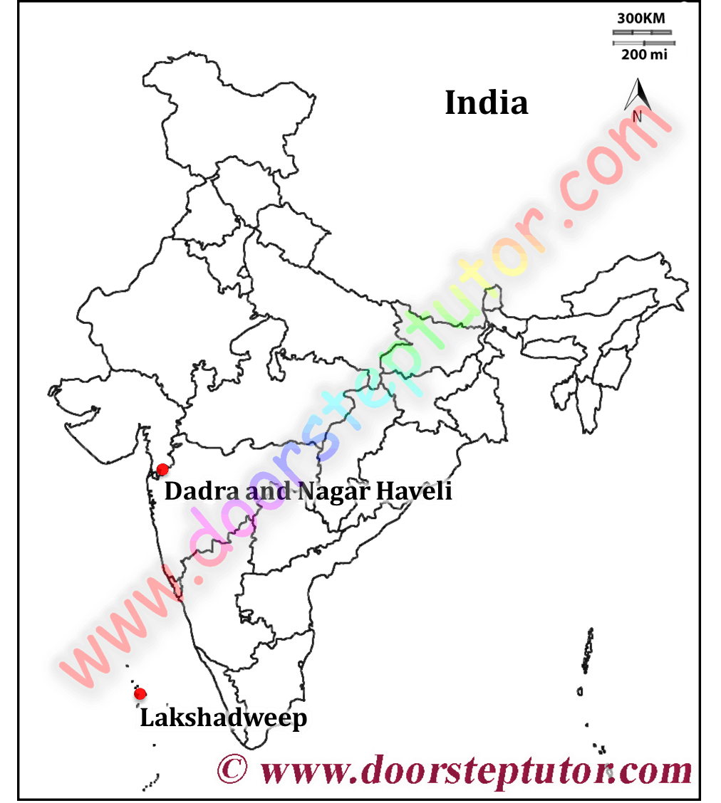 Map of concentrations are in Dadra & Nagar Haveli & Lakshadweep