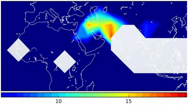 Ammonia detected first time in upper troposphere translation in distribution of the atmospheric ammonia concentration ccuart Images