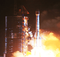Image shows the China successfully launches first satellite