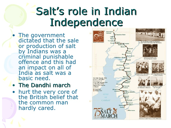 Image of Salt's role in Indian Independence