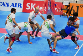 Image shows the Kabaddi World Cup in India