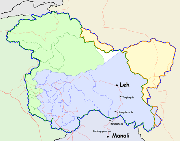 Map of Rohtang Pass